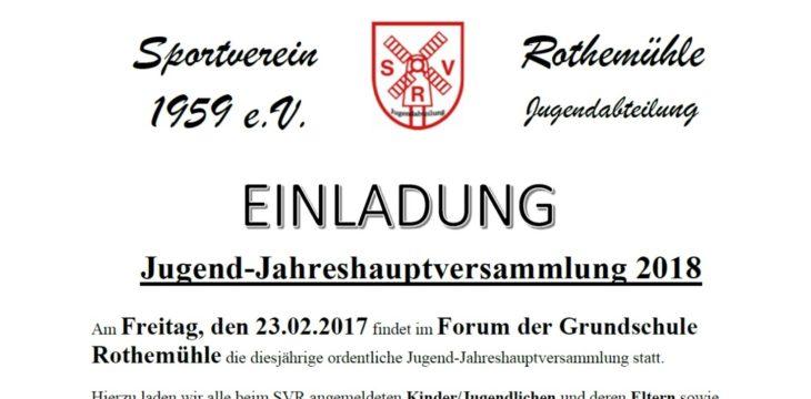 Einladung zur Jugend-Jahreshauptversammlung