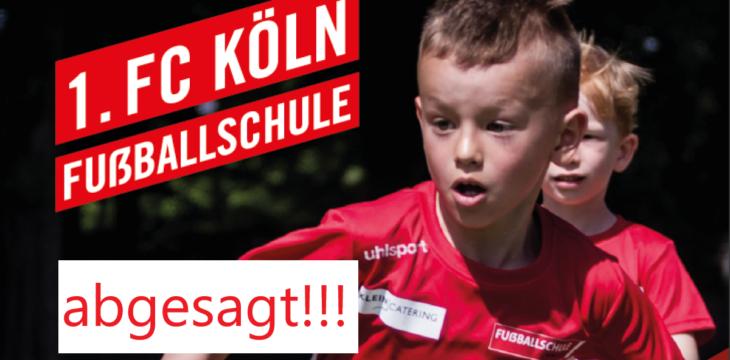 Fussballcamp leider abgesagt!!!